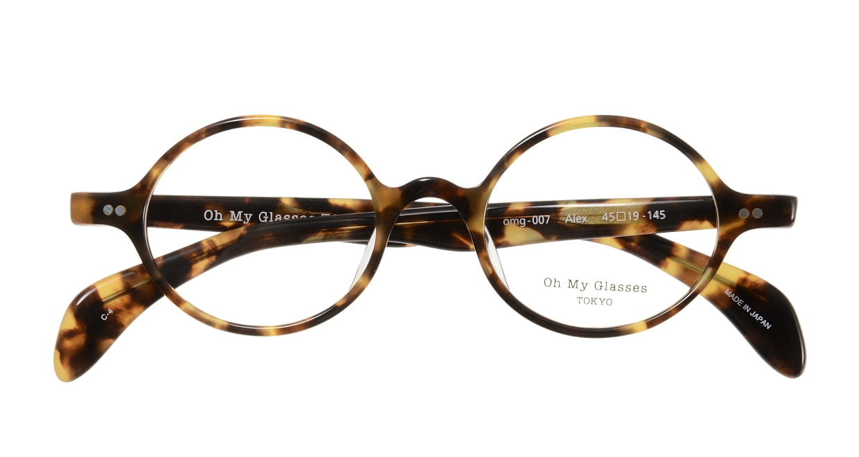 Oh My Glasses TOKYO Alex omg-007 4-45 [鯖江産/丸メガネ/べっ甲柄]  3