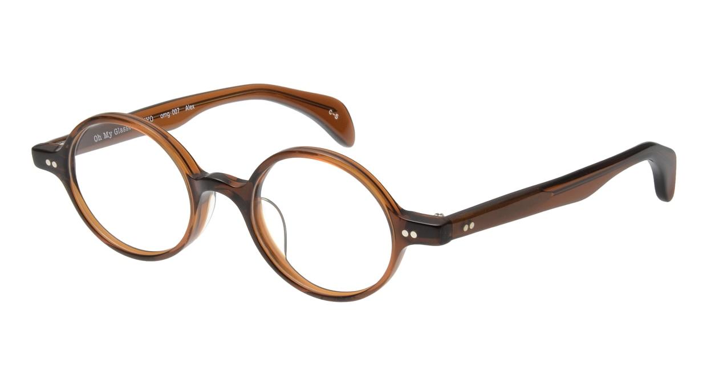 Oh My Glasses TOKYO Alex omg-007 5-45 [鯖江産/丸メガネ/茶色]