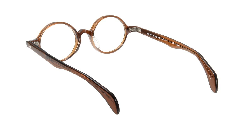Oh My Glasses TOKYO Alex omg-007 5-45 [鯖江産/丸メガネ/茶色]  2