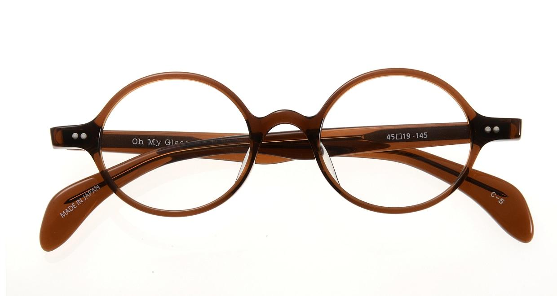 Oh My Glasses TOKYO Alex omg-007 5-45 [鯖江産/丸メガネ/茶色]  3