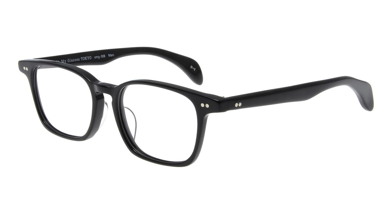 Oh My Glasses TOKYO Marc omg-008 1-51 [黒縁/鯖江産/ウェリントン]