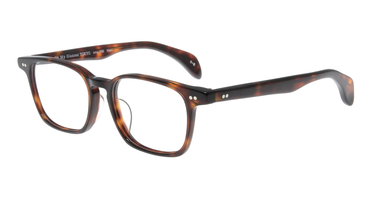 Oh My Glasses TOKYO Marc omg-008 2-51 [鯖江産/ウェリントン/茶色]