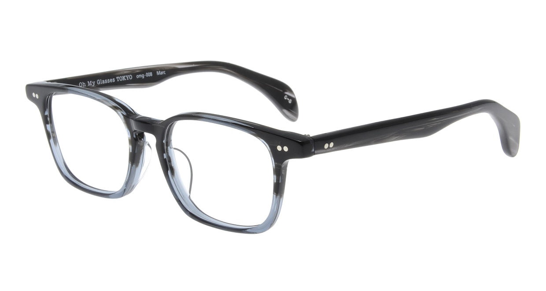 Oh My Glasses TOKYO Marc omg-008 5-51 [鯖江産/ウェリントン/グレー]