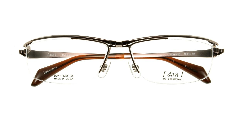 ドゥアン DUN2055-3 [メタル/鯖江産/ハーフリム/スクエア/茶色]  3