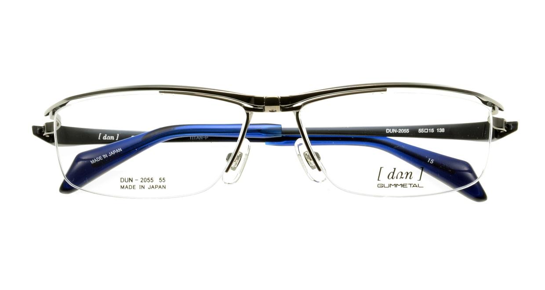 ドゥアン DUN2055-15 [メタル/鯖江産/ハーフリム/スクエア/グレー]  3
