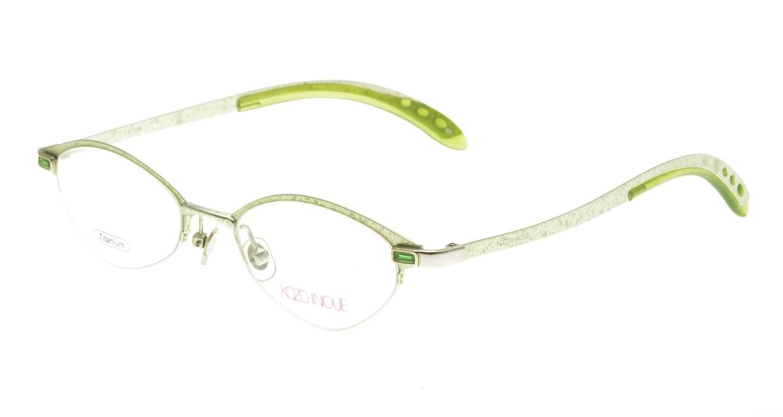 井上公三 K-028-GR [メタル/鯖江産/ハーフリム/オーバル/緑]
