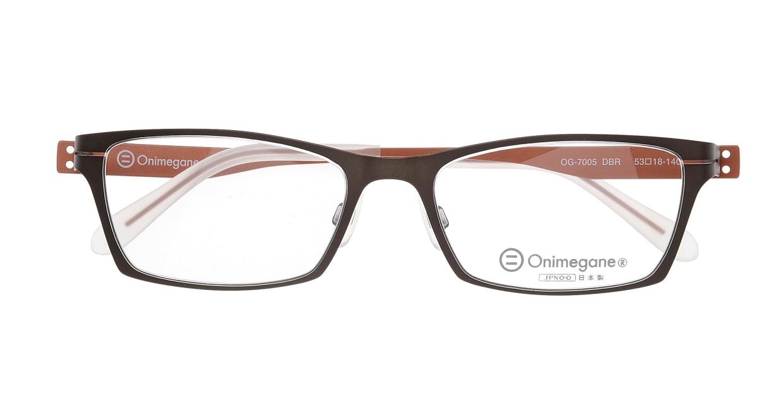 オニメガネ OG7005-DBR-53 [メタル/鯖江産/スクエア/茶色]  3