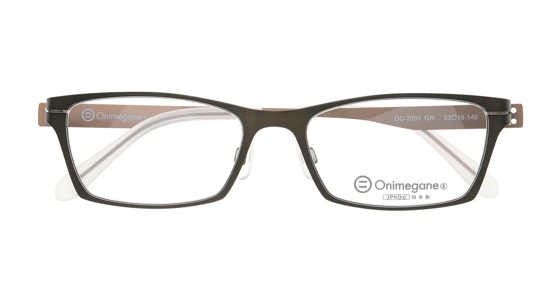 オニメガネ OG7005-GR-53 [メタル/鯖江産/スクエア/緑]  3