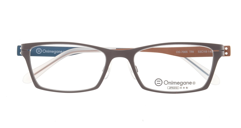 オニメガネ OG7005-TRI-53 [メタル/鯖江産/スクエア/グレー]  3