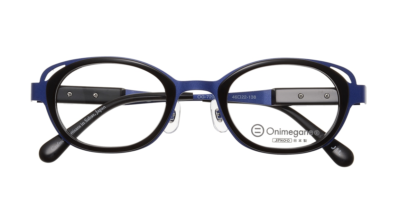 オニメガネ OG7202-BL-46 [メタル/鯖江産/ウェリントン/紫]  3