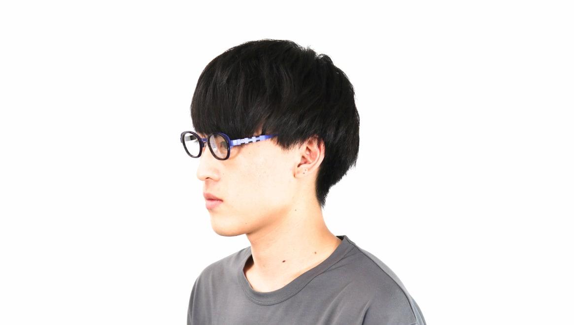 オニメガネ OG7202-BL-46 [メタル/鯖江産/ウェリントン/紫]  7