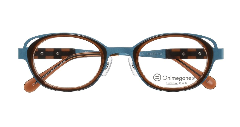 オニメガネ OG7202-LBL-46 [メタル/鯖江産/ウェリントン/青]  3