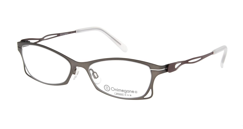 オニメガネ OG7205-DBR-51 [メタル/鯖江産/フォックス/グレー]