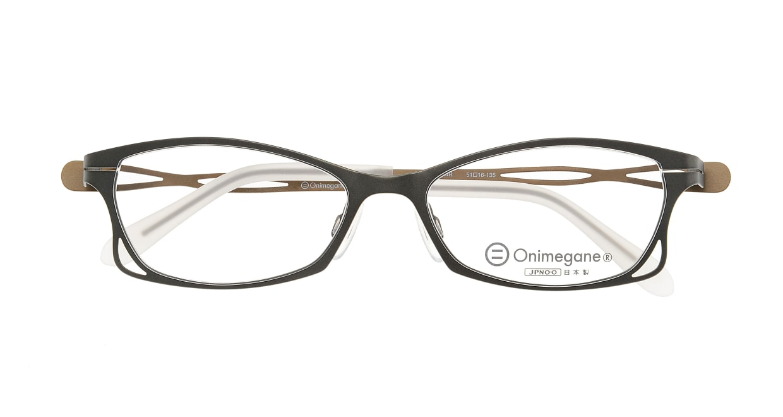 オニメガネ OG7205-GR-51 [メタル/鯖江産/フォックス/緑]  3
