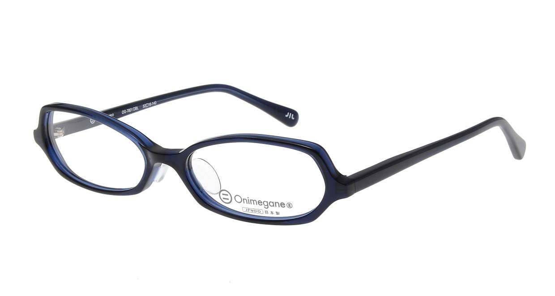 オニメガネ OG7801-DBL-52 [鯖江産/オーバル/青]