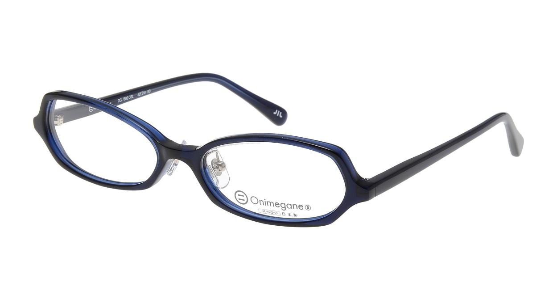 オニメガネ OG7802-DBL-52 [鯖江産/オーバル/青]