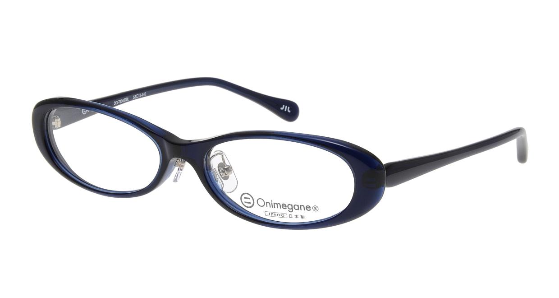 オニメガネ OG7804-DBL-53 [鯖江産/オーバル/青]