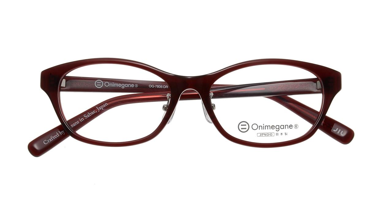 オニメガネ OG7806-DR-52 [鯖江産/ウェリントン/茶色]  3