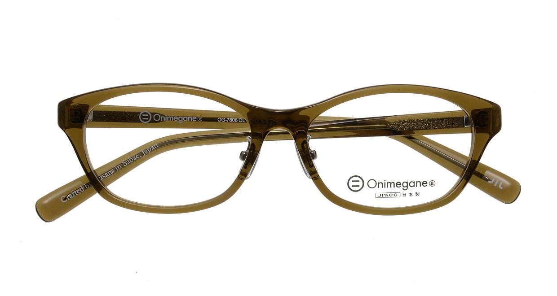 オニメガネ OG7806-OL-52 [鯖江産/ウェリントン/緑]  3