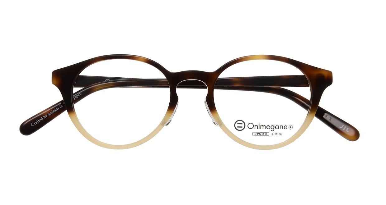 オニメガネ OG7809-DA-47 [鯖江産/丸メガネ/茶色]  3