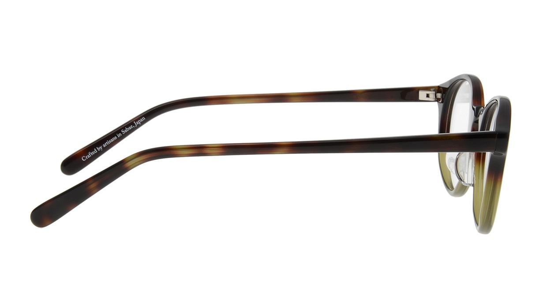 オニメガネ OG7809-GR-47 [鯖江産/丸メガネ/茶色]  1