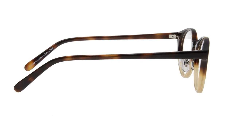 オニメガネ OG7810-DA-47 [鯖江産/丸メガネ/茶色]  1