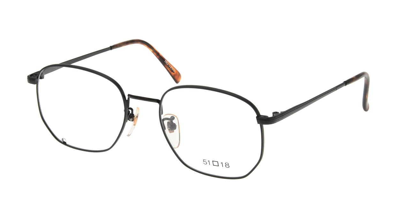 ブイオーシー NO1218-BK-51 [メタル/鯖江産/ウェリントン]