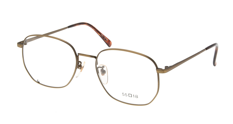 ブイオーシー 1218-ATG-55 [メタル/鯖江産/ウェリントン/ゴールド]