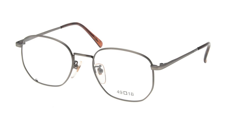 ブイオーシー NO1218-ATS-49 [メタル/鯖江産/ウェリントン/グレー]