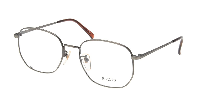 ブイオーシー NO1218-ATS-55 [メタル/鯖江産/ウェリントン/グレー]