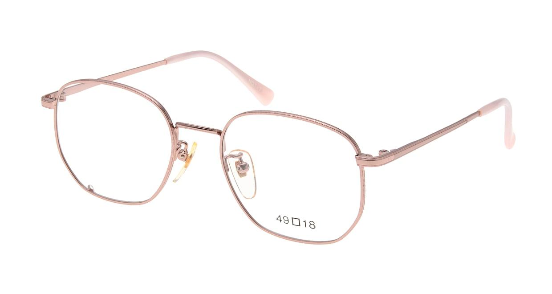 ブイオーシー NO1218-PK-49 [メタル/鯖江産/ウェリントン/ピンク]
