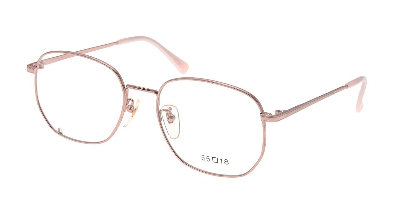 ブイオーシー NO1218-PK-55 [メタル/鯖江産/ウェリントン/ピンク]