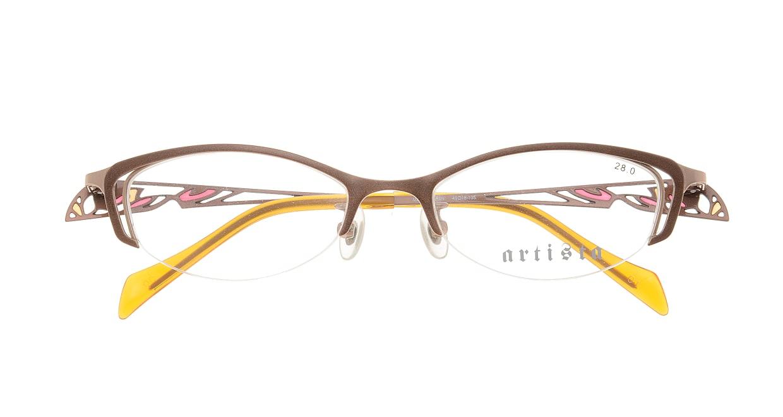 アルティスタ 50-502-01 [メタル/鯖江産/スクエア/茶色]  3