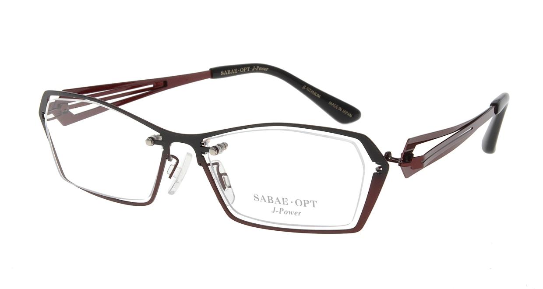 スーン 001-BKG/RE [メタル/鯖江産/スクエア/赤]
