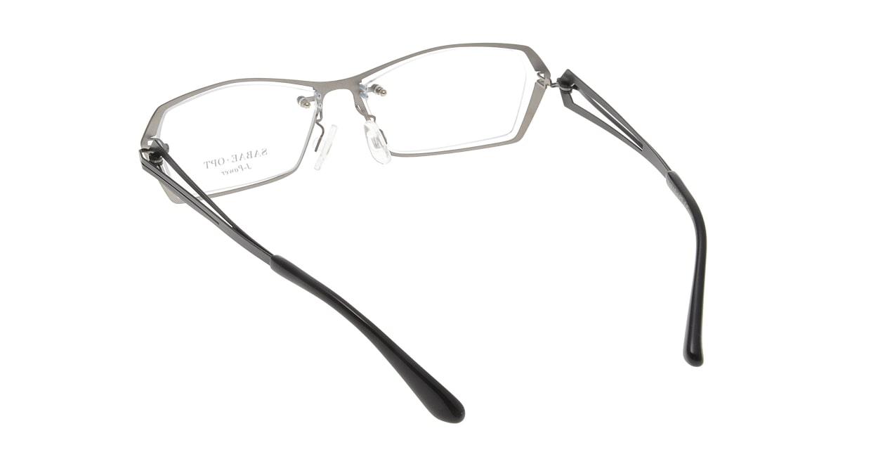 スーン 001-TI/BK [メタル/鯖江産/スクエア/シルバー]  2