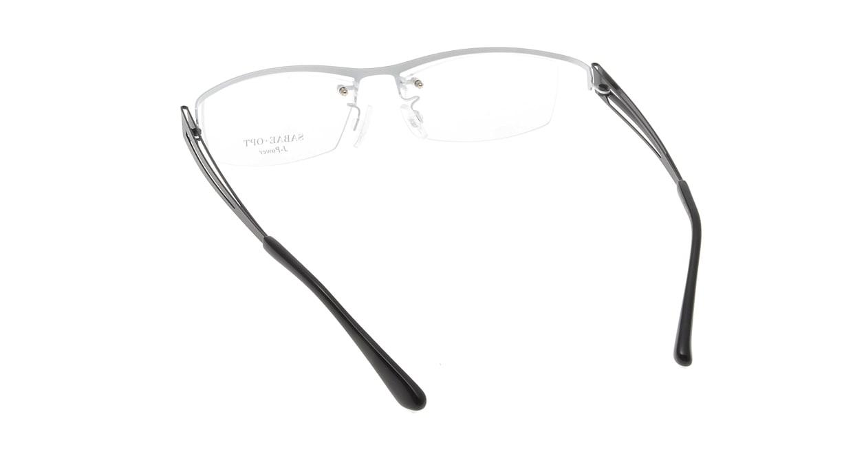スーン 002-WHP/BK [メタル/鯖江産/スクエア/白]  2