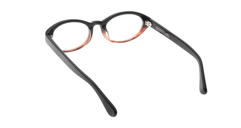 オウル boasorte ONSORA-BS035-1.BLACK-BROWN DEMI [黒縁/オーバル]  2