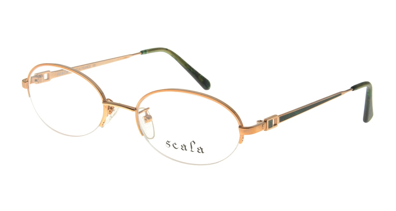 スカラ 942-C2 [メタル/ハーフリム/オーバル/ゴールド]