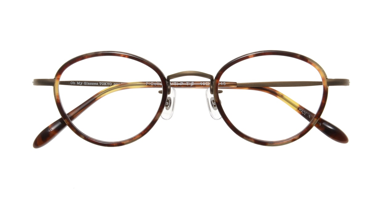 Oh My Glasses TOKYO Oscar omg-061 4-46 [鯖江産/丸メガネ/べっ甲柄]  3