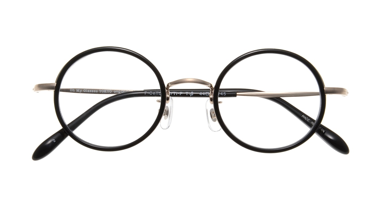 Oh My Glasses TOKYO Dustin omg-062 2-44 [黒縁/鯖江産/丸メガネ]  3