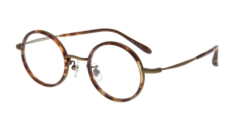 Oh My Glasses TOKYO Dustin omg-062 4-44 [鯖江産/丸メガネ/べっ甲柄]
