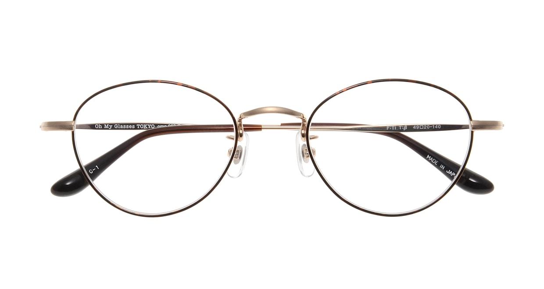 Oh My Glasses TOKYO George omg-063 32-14 [メタル/鯖江産/丸メガネ/べっ甲柄]  3