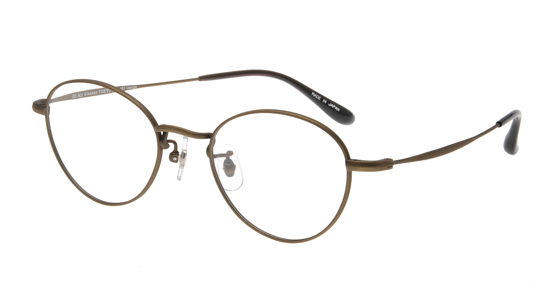 Oh My Glasses TOKYO George omg-063 12-12 [メタル/鯖江産/丸メガネ/茶色]