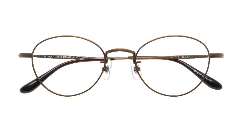 Oh My Glasses TOKYO George omg-063 12-12 [メタル/鯖江産/丸メガネ/茶色]  3