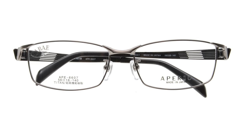 アペリオ APE-6607-1-56 [メタル/鯖江産/スクエア/グレー]  3