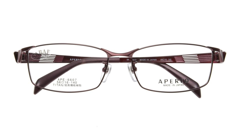 アペリオ APE-6607-3-56 [メタル/鯖江産/スクエア/赤]  3