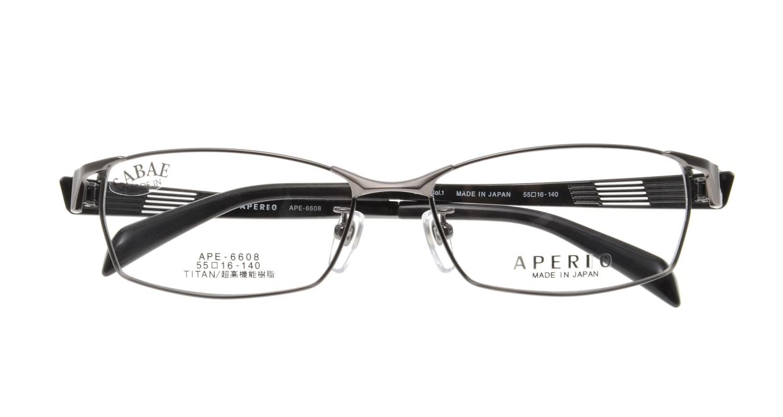 アペリオ APE-6608-1-55 [メタル/鯖江産/スクエア/グレー]  3