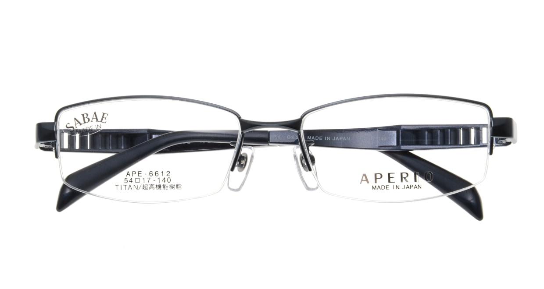 アペリオ APE-6612-3-54 [メタル/鯖江産/ハーフリム/スクエア/青]  3