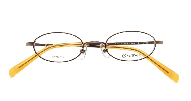 アミパリ TS-8040-4-44 [メタル/鯖江産/オーバル/茶色]  3