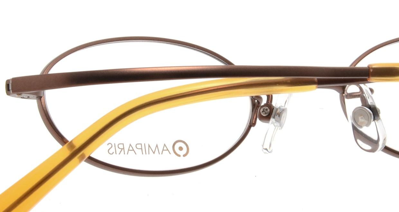 アミパリ TS-8040-4-44 [メタル/鯖江産/オーバル/茶色]  4